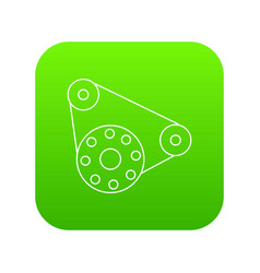 motor icon green vector image