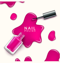 Nail polish beauty paint drop cosmetic bottle vector
