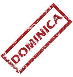New Dominica rubber stamp vector image