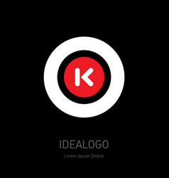 O and k - design element or icon monogram vector
