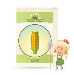 Pack corn seeds icon vector