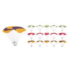 parachute equipment set vector image