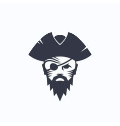 Pirate Head Abstract Logo Template Sailor vector