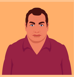 portrait a man in a shirt vector image
