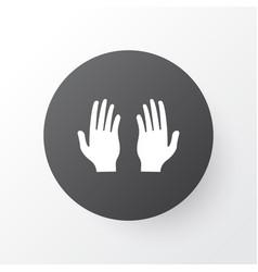 pray icon symbol premium quality isolated palm vector image