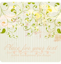 Pretty Floral Vintage Wallpaper vector