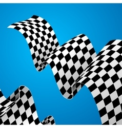Racing flag background vector