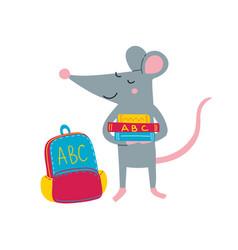 Rat back to school vector