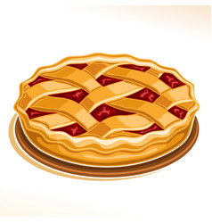 Rhubarb pie vector