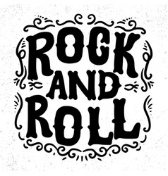 rock and roll lettering phrase for greeting card vector image