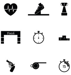 Running icon set vector