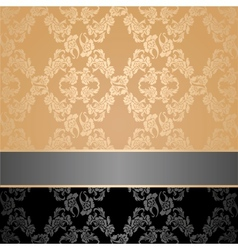 Seamless pattern floral decorative background gray vector