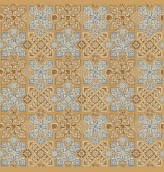 seamless pattern in form oriental tiles vector image
