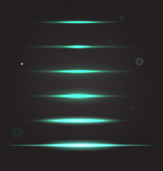 Set of glowing light effect vector