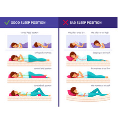 Sleeping positions cartoon collection vector