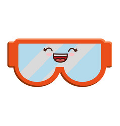 Snorkel goggles icon vector