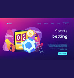 Sports betting concept landing page vector