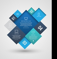 Square group with icons number for brochure vector