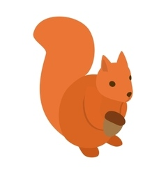 Squirrel icon isometric 3d style vector