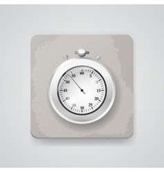 Stop watch icon vector image