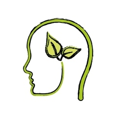 Think green ecology vector
