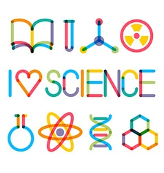 Trendy multiply science icons vector