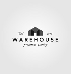 vintage warehouse barn building overlapping logo vector image
