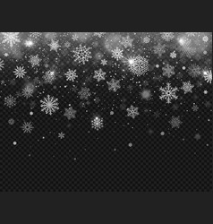Winter falling snow snowflakes fall christmas vector