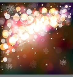 winter shining background magical festive vector image