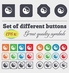 Ying yang icon sign Big set of colorful diverse vector image