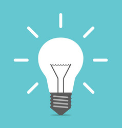 bright glowing light bulb vector image vector image