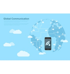global communications 2 vector image vector image