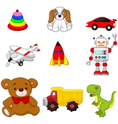 Kids toy collection vector image vector image