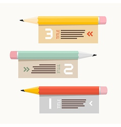 Paper Infographics Layout with Pencils vector image vector image