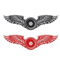 wheel tattoo vector image vector image