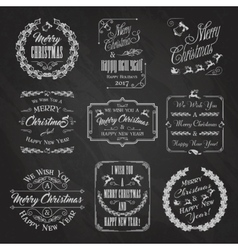 Christmas Chalkboard Set vector image