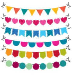 Cute bunting set vector image vector image