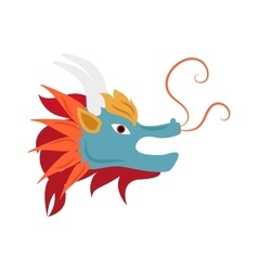 Dragon head mascot mythology chinese monster vector image