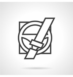 Driver safety line icon vector image
