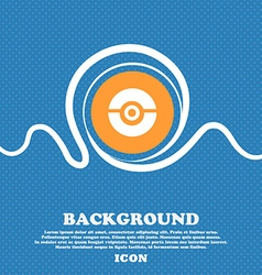 pokeball icon sign Blue and white abstract vector image