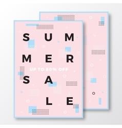 Summer Sale Poster Card or Flyer Template Modern vector image