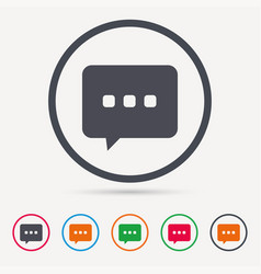 chat icon speech bubble sign vector image
