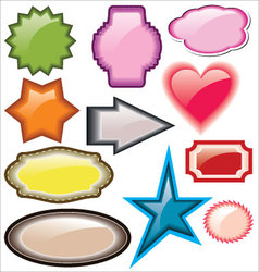 Design of advertisement labels stickers vector image