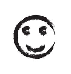 Smile face grunge icon symbol Emoji vector image vector image