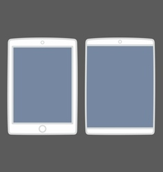 Tablet icon set isolated on black vector image