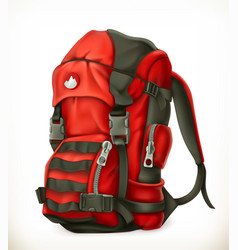 tourist backpack 3d icon vector image