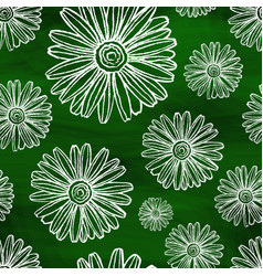 chalky chamomiles on an abstract background vector image vector image