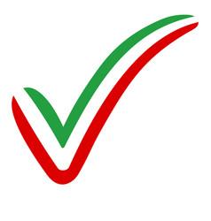 check mark iran flag symbol elections voting vector image