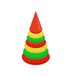 Children s pyramid first toy for baby play vector