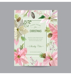Christmas Frame or Card - in Watercolor Style vector image vector image